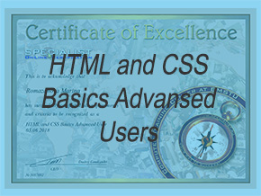 Сертификат - Has successfully completed all requirements and criteria to be recognized as a HTML and CSS Basics Advanced User.